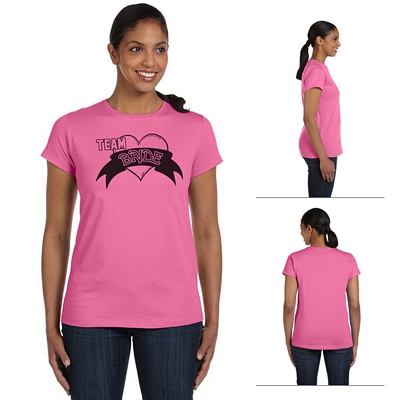 Customized Hanes 5680 Ladies' 5.2 oz ComfortSoft Cotton T-Shirt