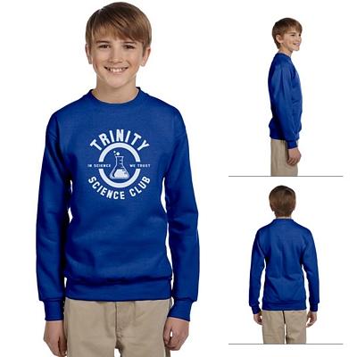 Customized Hanes P360 Youth 7.8 oz ComfortBlend EcoSmart 50/50 Fleece Crew