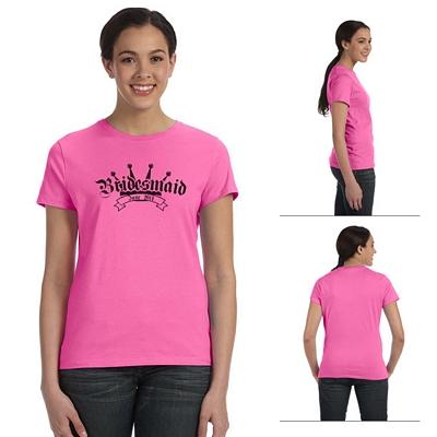 Customized Hanes SL04 Ladies' 4.5 oz 100% Ringspun Cotton nano-T T-Shirt