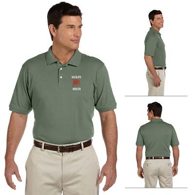Customized Harriton M100 Mens 6.5 oz Ringspun Cotton Pique Short-Sleeve Polo