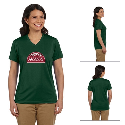 Customized Harriton M320W Ladies 4.2 oz Athletic Sport T-Shirt