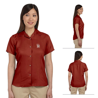 Customized Harriton M570W Ladies Bahama Cord Camp Shirt