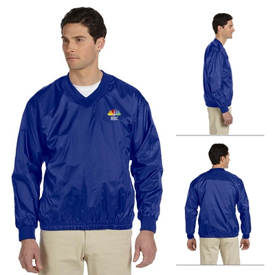Customized Harriton M720 Athletic V-Neck Pullover Jacket