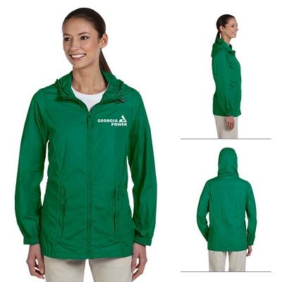 Customized Harriton M765W Ladies Essential Rainwear