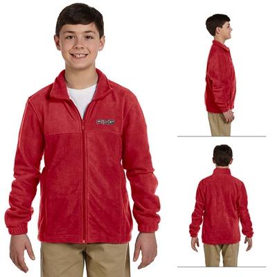 Customized Harriton M990Y Youth Full-Zip Fleece
