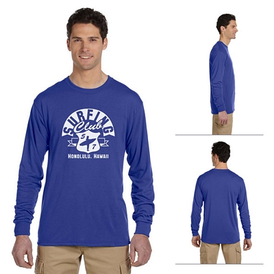 Customized Jerzees 21ML 5.3 oz 100% Polyester Long-Sleeve T-Shirt