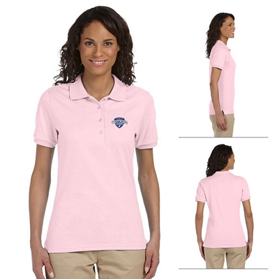 Customized Jerzees 437W Ladies' 5.6 oz 50/50 Jersey Sport Shirt with SpotShield