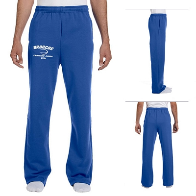 Customized Jerzees 974MP 8 oz NuBlend 50/50 Open-Bottom Sweatpants