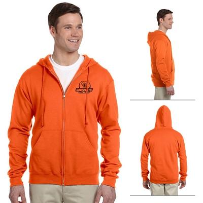 Customized Jerzees 993 8 oz NuBlend 50/50 Full-Zip Hood