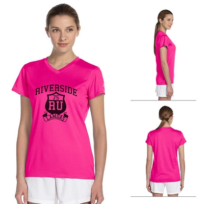 Customized New Balance 7118L Ladies' N-Durance Athletic V-Neck T-Shirt