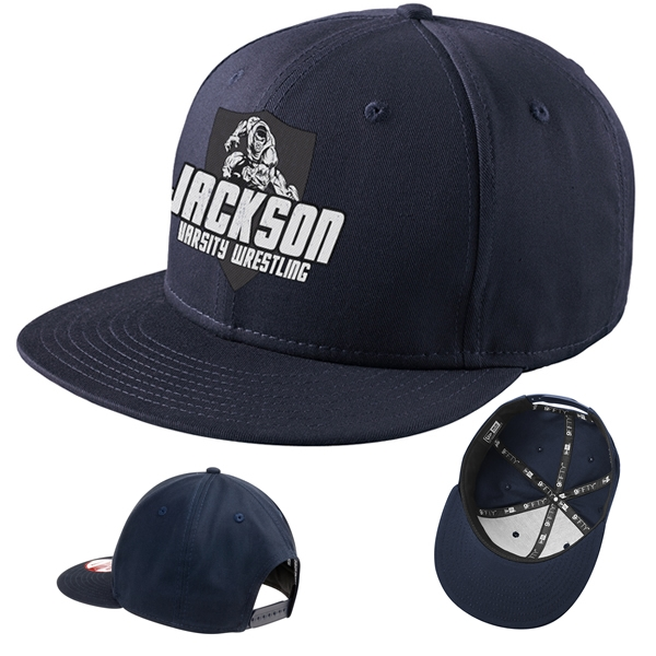 Customized New Era NE400 Flat Bill Snapback Cap 2aae9d9b5a3b