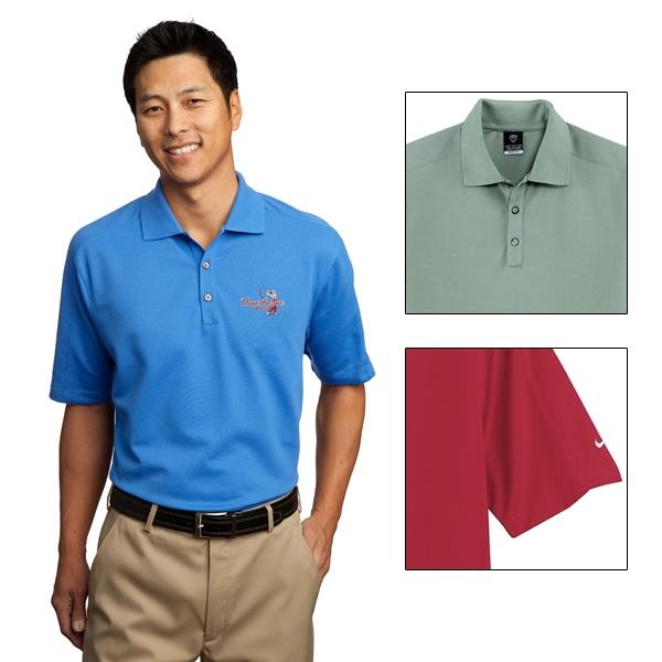 Nike golf 244612 men 39 s dri fit pique ii polo shirt for Dri fit polo shirts for boys