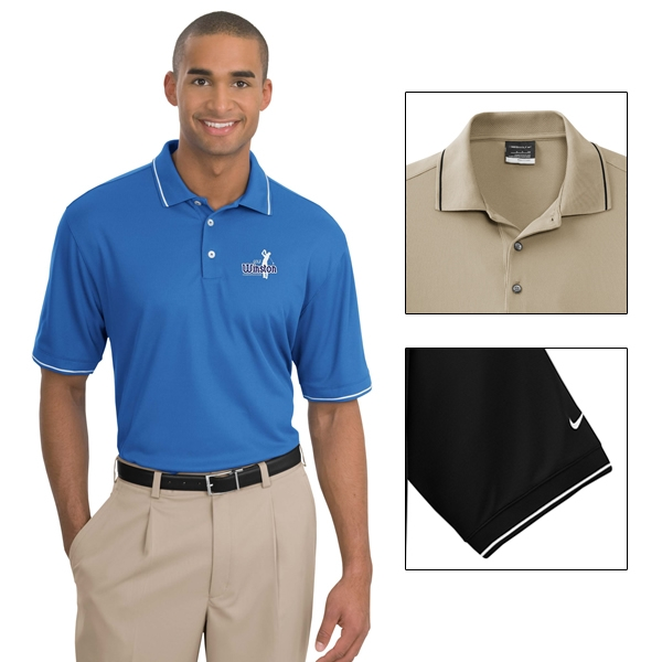 Nike Golf 319966 Dri Fit Clic Tipped Polo Shirt