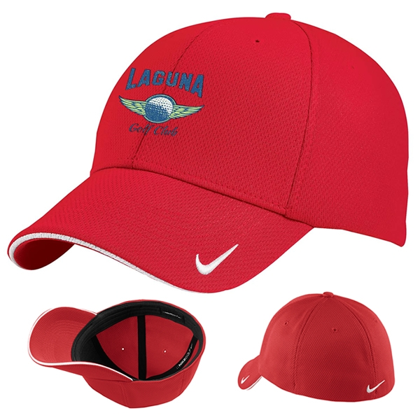 e3756be63 Nike Golf 333115 Dri-FIT Mesh Swoosh Flex Sandwich Cap