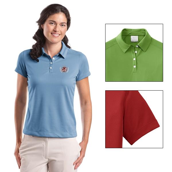 70e54153 Customized Nike Golf 354064 Ladies' Dri-FIT Pebble Texture Polo Shirt