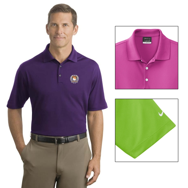 Nike golf 363807 men 39 s dri fit micro pique polo shirt for Nike dri fit embroidered shirts