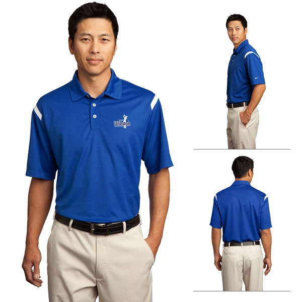 9c1c331e Nike Golf 402394 Dri-FIT Shoulder Stripe Polo Shirt | Embroidered ...