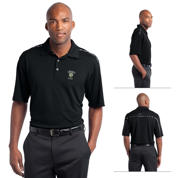 Nike Golf 527807 Dri Fit Graphic Polo Shirt Embroidered Logo Nike