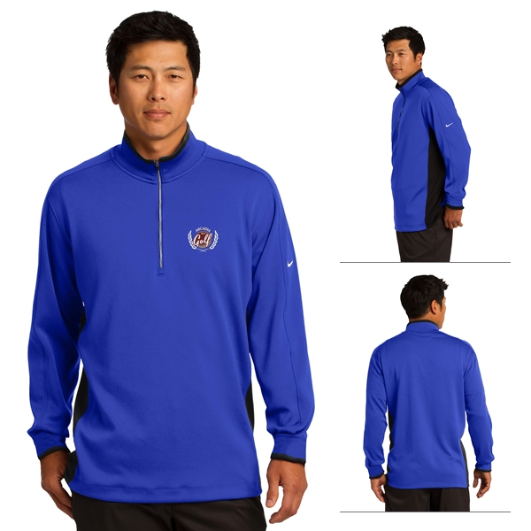 Nike Golf 578673 Men s Dri-FIT 1 2-Zip Cover-Up Pullover ... 815e5f99d