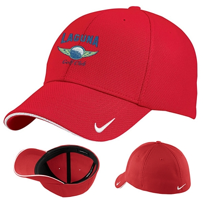Customized Nike Golf 333115 Dri-FIT Mesh Swoosh Flex Sandwich Cap