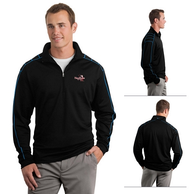 Customized Nike Golf 354060 Dri-FIT 1/2-Zip Cover-Up Pullover Jacket