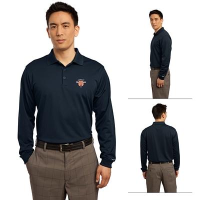 Customized Nike Golf 466364 Men's Long Sleeve Dri-FIT Stretch Tech Polo