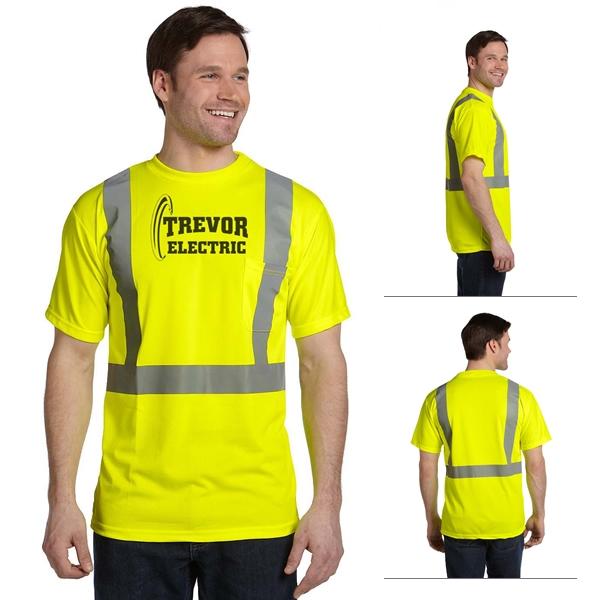Occunomix luxsse birdseye wicking t shirt class 2 screen for Safety logo t shirts