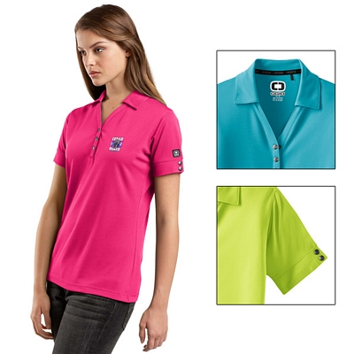 Customized OGIO LOG105 Ladies' Glam Polo Shirt