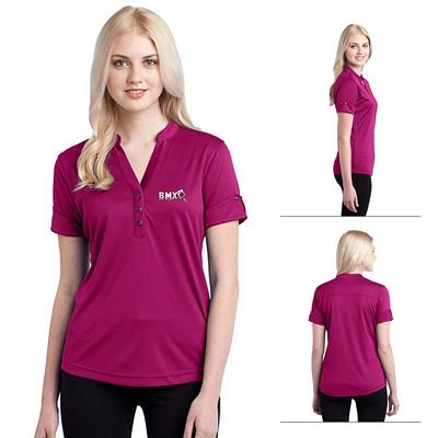 Customized OGIO LOG114 Ladies' Gaze Henley Polo Shirt