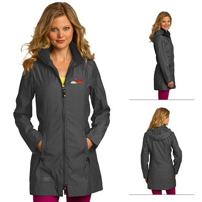 Customized OGIO LOG505 Ladies' Quarry Trench Jacket