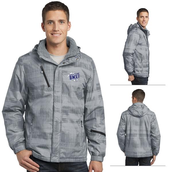 J320 Blue 4XL Port Authority Brushstroke Print Insulated Jacket