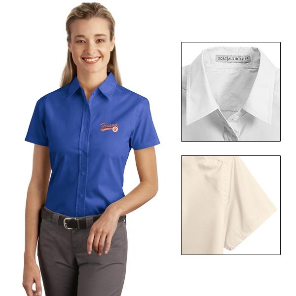 e0d47678 Customized Port Authority L507 Ladies Short Sleeve Easy Care Soil Resistant  Shirt