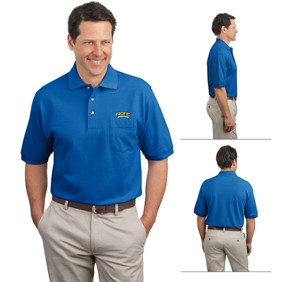 Customized Port Authority K420P Pique Knit Pocket Polo