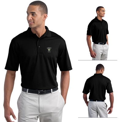 Customized Port Authority K497 Poly-Bamboo Charcoal Blend Pique Polo