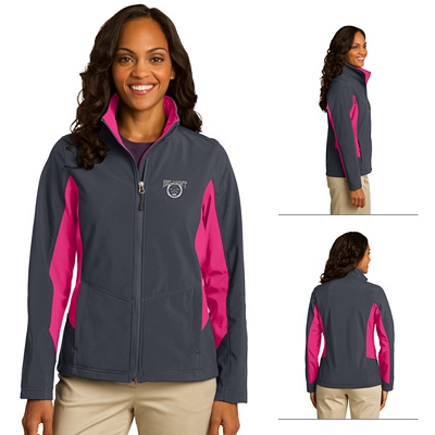 Customized Port Authority L318 Ladies Core Colorblock Soft Shell Jacket