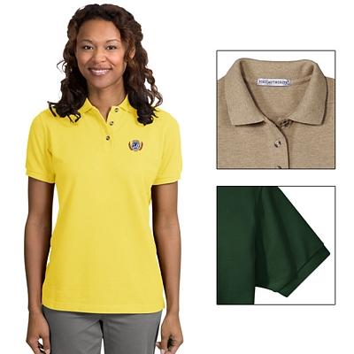 Customized Port Authority L420 Ladies 7 oz Cotton Pique Knit Polo