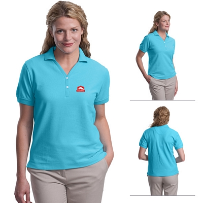 Customized Port Authority L448 Ladies 100% Pima Cotton Polo