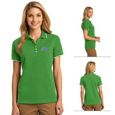 Customized Port Authority L454 Ladies Rapid Dry Tipped Polo