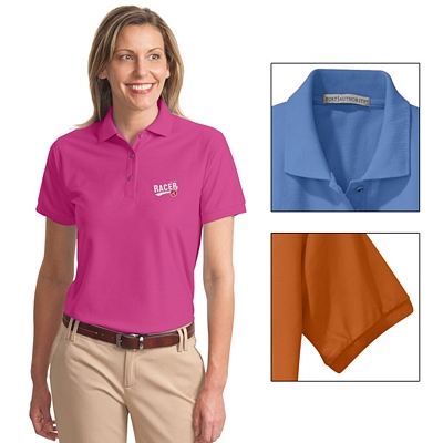 Customized Port Authority L500 Ladies 5 oz Silk Touch Polo