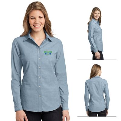 Customized Port Authority L653 Ladies Chambray Shirt