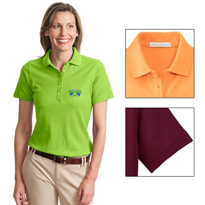 Customized Port Authority L800 Ladies 6.5 oz EZCotton Pique Polo