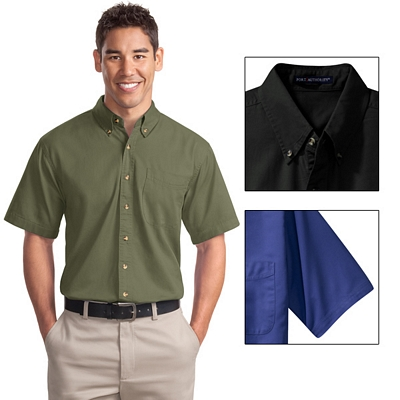 Customized Port Authority S500T Short Sleeve Twill Shirt