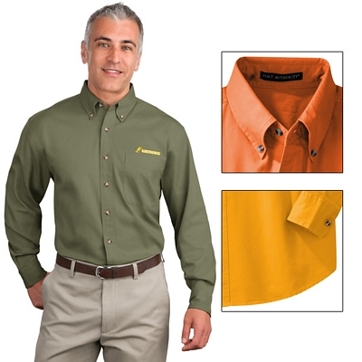Customized Port Authority S600T Long Sleeve Twill Shirt