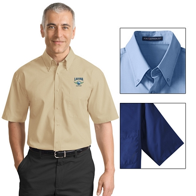 Customized Port Authority S633 Short Sleeve Value Poplin Shirt