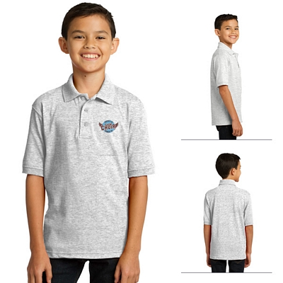 Customized Port & Company KP55Y Youth 5.5 oz Jersey Knit Polo