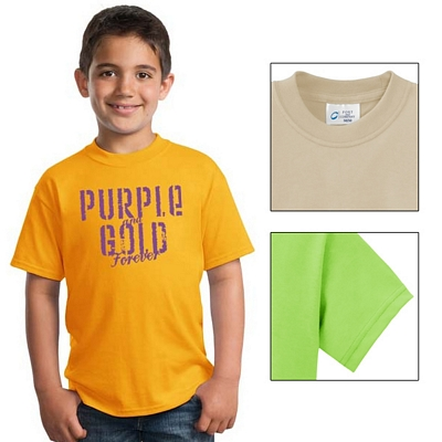 Customized Port & Company PC55Y Youth 50/50 Cotton/Poly T-Shirt