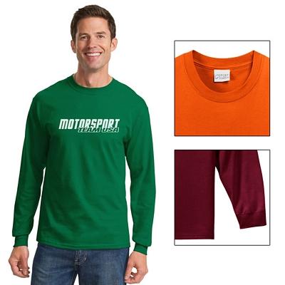 Customized Port & Company PC61LS Adult 6.1 oz Long Sleeve Essential T-Shirt