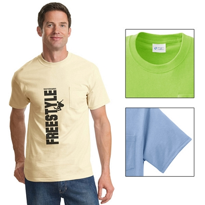 Customized Port & Company PC61P Essential T-Shirt with Pocket