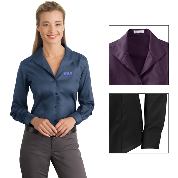 a522a855 Customized Red House RH48 Ladies Herringbone Non-Iron Button-Down Shirt