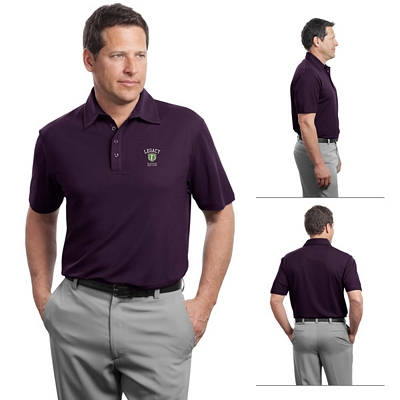 Customized Red House RH49 Men's Contrast Stitch Performance Pique Polo